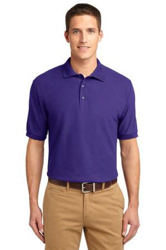Port Authority Mens Silk Touch Polo Shirt Purple Main Image