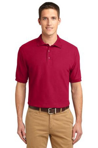 Port Authority Mens Silk Touch Polo Shirt Red Main Image