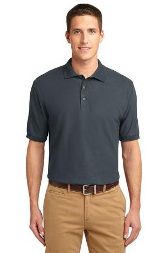 Port Authority Mens Silk Touch Polo Shirt Steel Grey Main Image