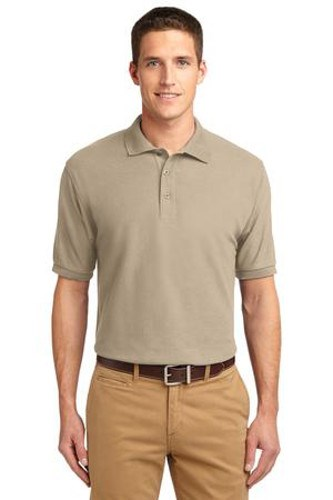 Port Authority Mens Silk Touch Polo Shirt Stone Main Image