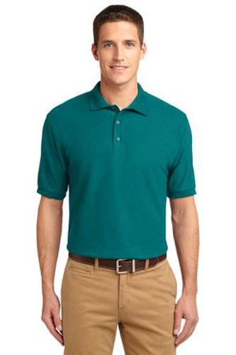Port Authority Mens Silk Touch Polo Shirt Teal Green Main Image