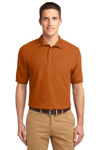 Port Authority Mens Silk Touch Polo Shirt Texas Orange Main Image