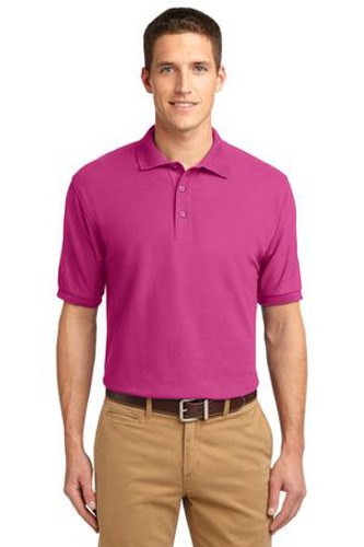 Port Authority Mens Silk Touch Polo Shirt Tropical Pink Main Image