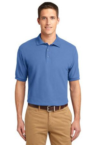 Port Authority Mens Silk Touch Polo Shirt Ultramarine Blue Main Image