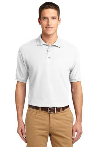 Port Authority Mens Silk Touch Polo Shirt White Main Image