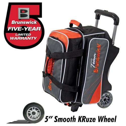 Brunswick Team Brunswick Double Roller Slate/Orange + Free