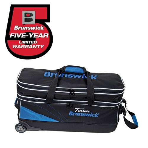 Brunswick Team Brunswick Slim Triple with Shoe Pocket Black/Cobalt Main Image