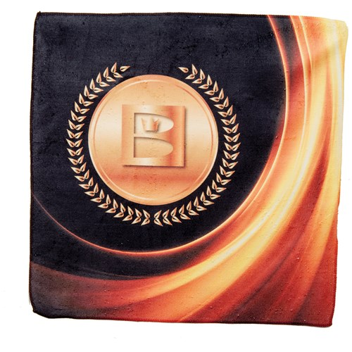 Brunswick Medallion Dye Sublimated Towel Gold Main Image