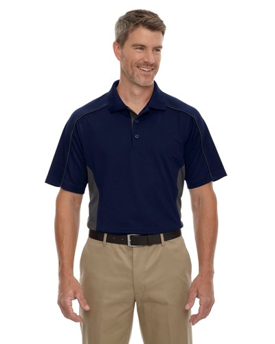 Ash City Mens Fuse Polo Classic Navy/Carbon Main Image