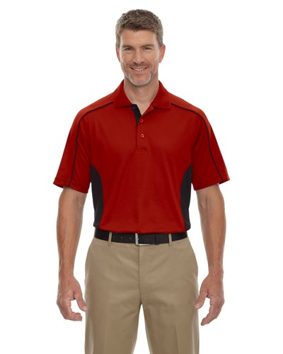 Ash City Mens Fuse Polo Classic Red/Black Main Image