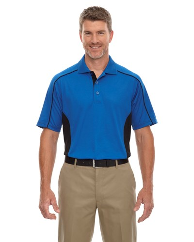 Ash City Mens Fuse Polo True Royal/Black Main Image