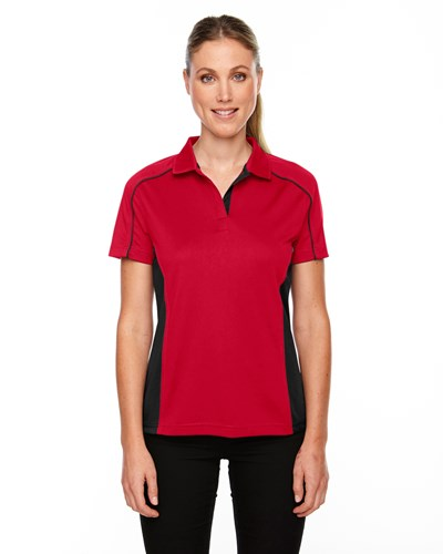 Ash City Womens Fuse Polo Classic Red/Black Main Image