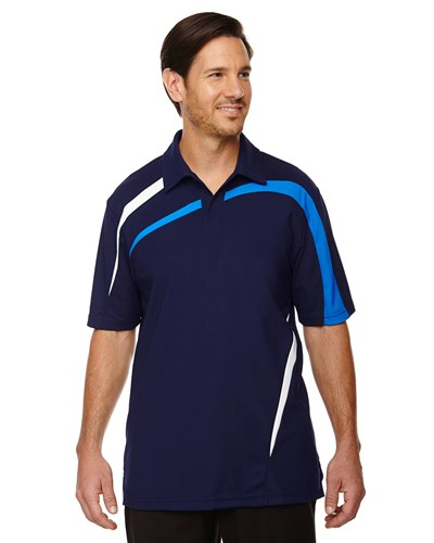 Ash City Mens Impact Performance Polo Night/Light Nautical Blue/White Main Image