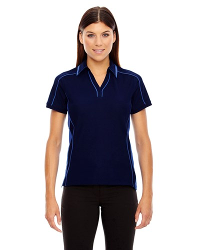 Ash City Womens Sonic Performance Polo Night/Light Nautical Blue Main Image