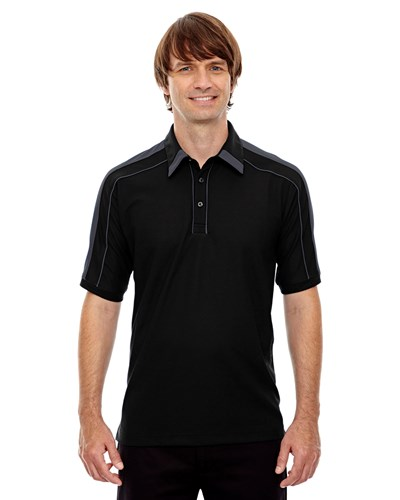 Ash City Mens Sonic Performance Polo Black Silk Main Image