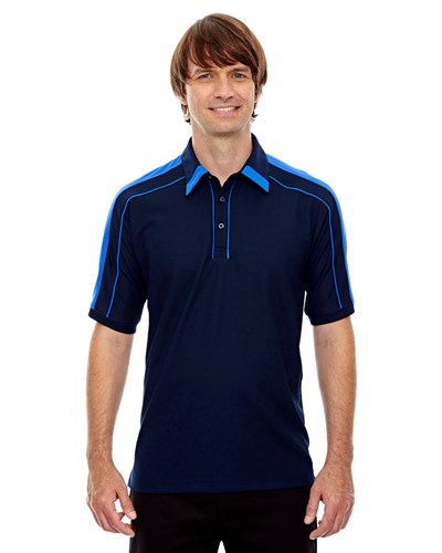 Ash City Mens Sonic Performance Polo Night/Light Nautical Blue Main Image