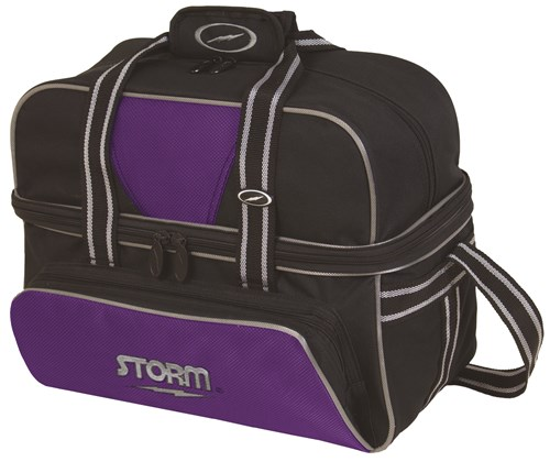Storm 2 Ball Deluxe Tote Black/Purple Main Image