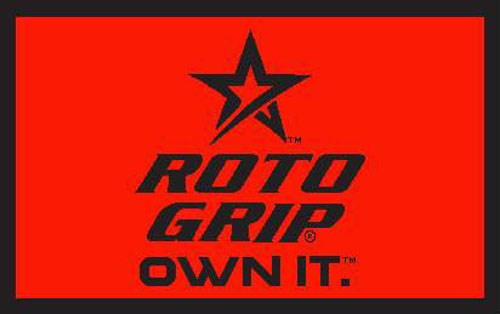 Roto Grip Woven Towel Red/Black Main Image