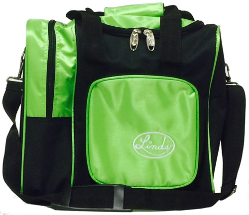 Linds Deluxe Single Tote Black/Lime Main Image