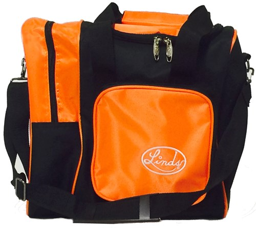Linds Deluxe Single Tote Black/Orange Main Image