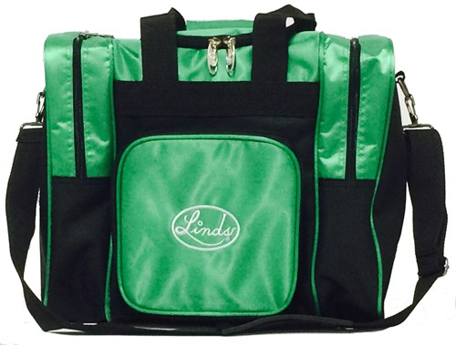 Linds Laser Deluxe Single Tote Black/Green Main Image