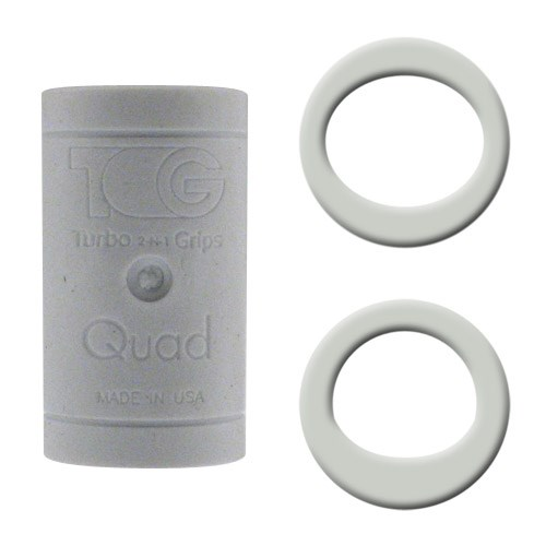 Turbo Grips Quad White Soft Power Lift/Oval Mesh Inserts Main Image