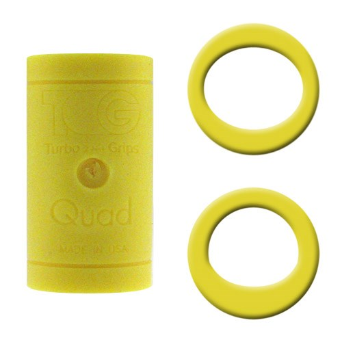 Turbo Grips Quad Yellow Soft Power Lift/Oval Mesh Inserts Main Image