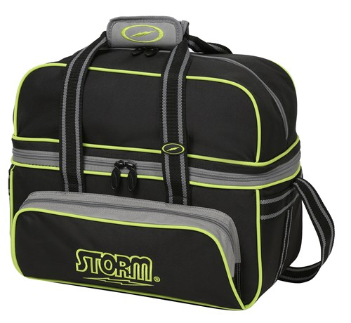 Storm 2 Ball Deluxe Tote Black/Grey/Lime Main Image