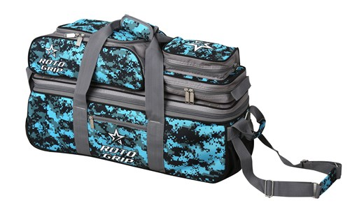 Roto Grip 3 Ball Tote/Roller Grey/Blue Camo Main Image