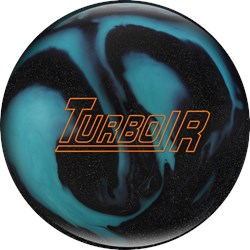 Ebonite Turbo/R Black Sparkle/Aqua Main Image