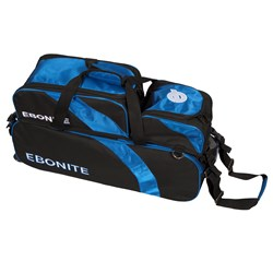 Ebonite Equinox Slim Triple Tote w/ Shoe Pouch Black/Blue Main Image