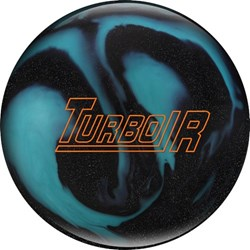 Ebonite Turbo/R Black Sparkle/Aqua X-OUT Main Image