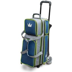 Brunswick Crown Deluxe Triple Roller Navy/Lime Main Image