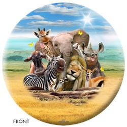OnTheBallBowling African Animals Ball Main Image