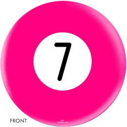 OnTheBallBowling Billiard Pink 7 Ball Main Image