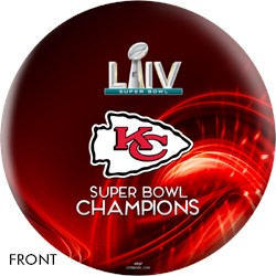 OnTheBallBowling 2020 Super Bowl 54 Champions Kansas City Chiefs Ball Red Main Image