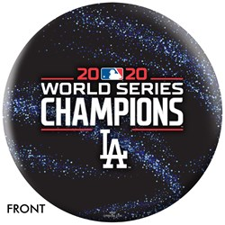 OnTheBallBowling MLB Los Angeles Dodgers 2020 World Series Champs Galaxy Ball Main Image