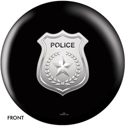 OnTheBallBowling Police Dept Shield Black Main Image